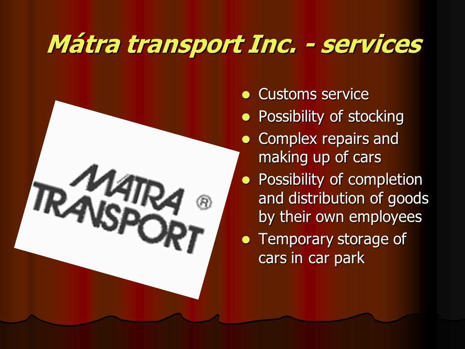 Mátra transport Inc.