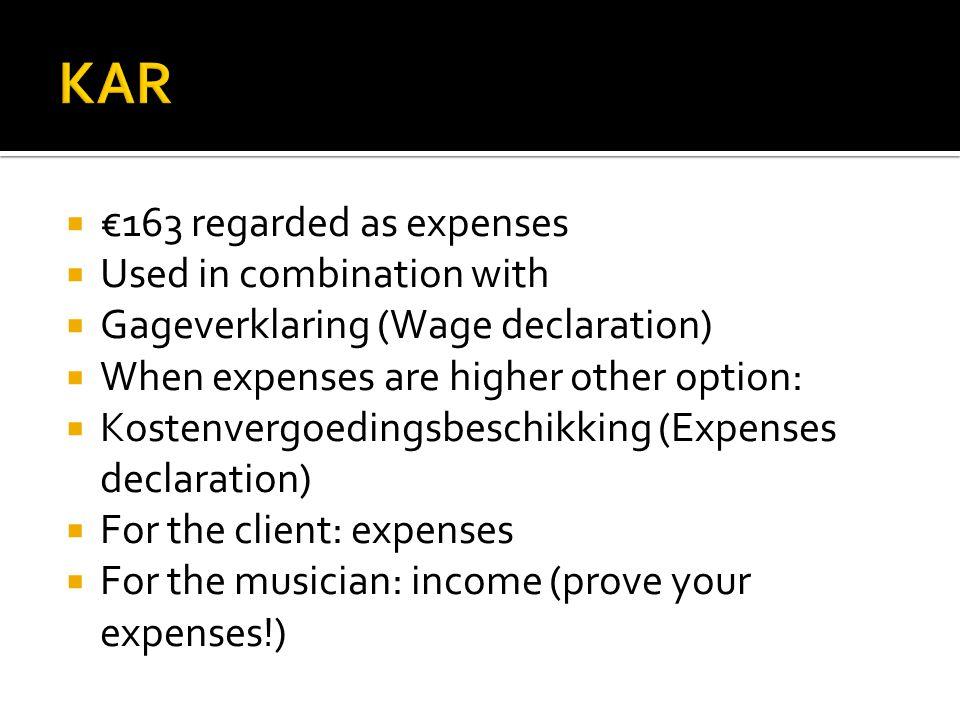  Verklaring Arbeids Relatie  Declararion Working Relation  When not: Winst uit Onderneming (WUO) then it's useless.