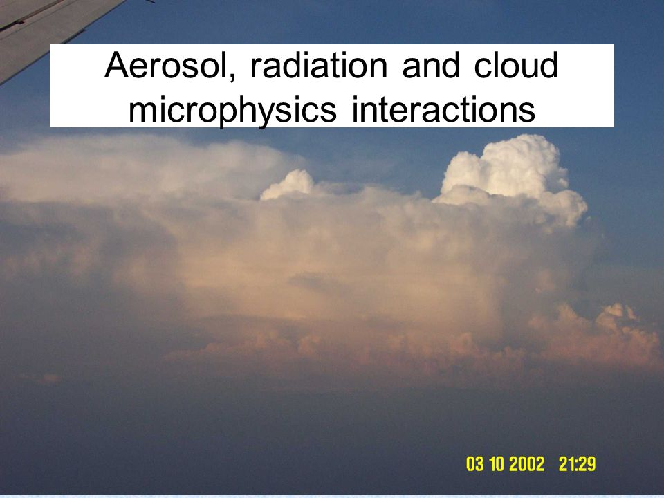 Aerosol, radiation and cloud microphysics interactions