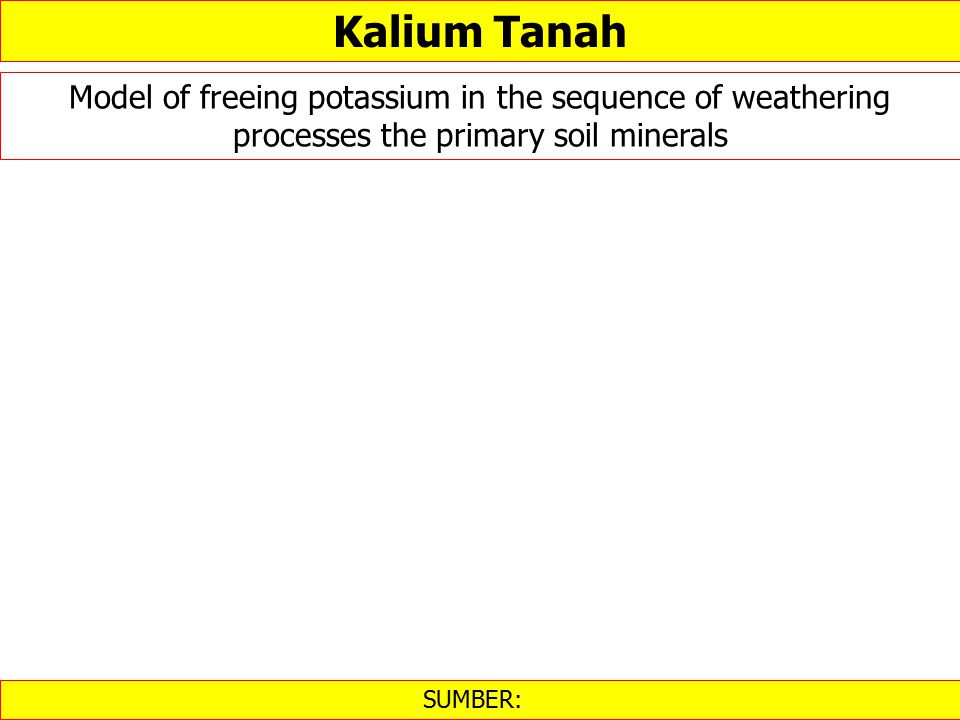 SUMBER: ‎ Kalium Tanah Model of freeing potassium in the sequence of weathering processes the primary soil minerals