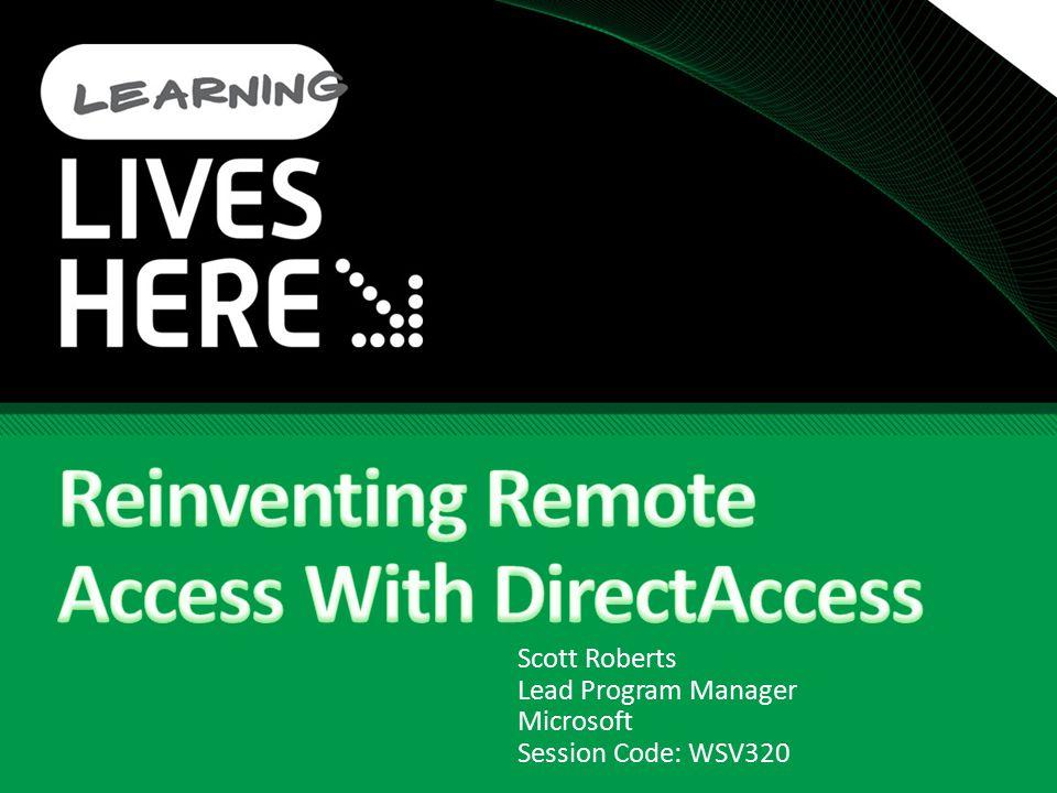 Scott Roberts Lead Program Manager Microsoft Session Code: WSV320