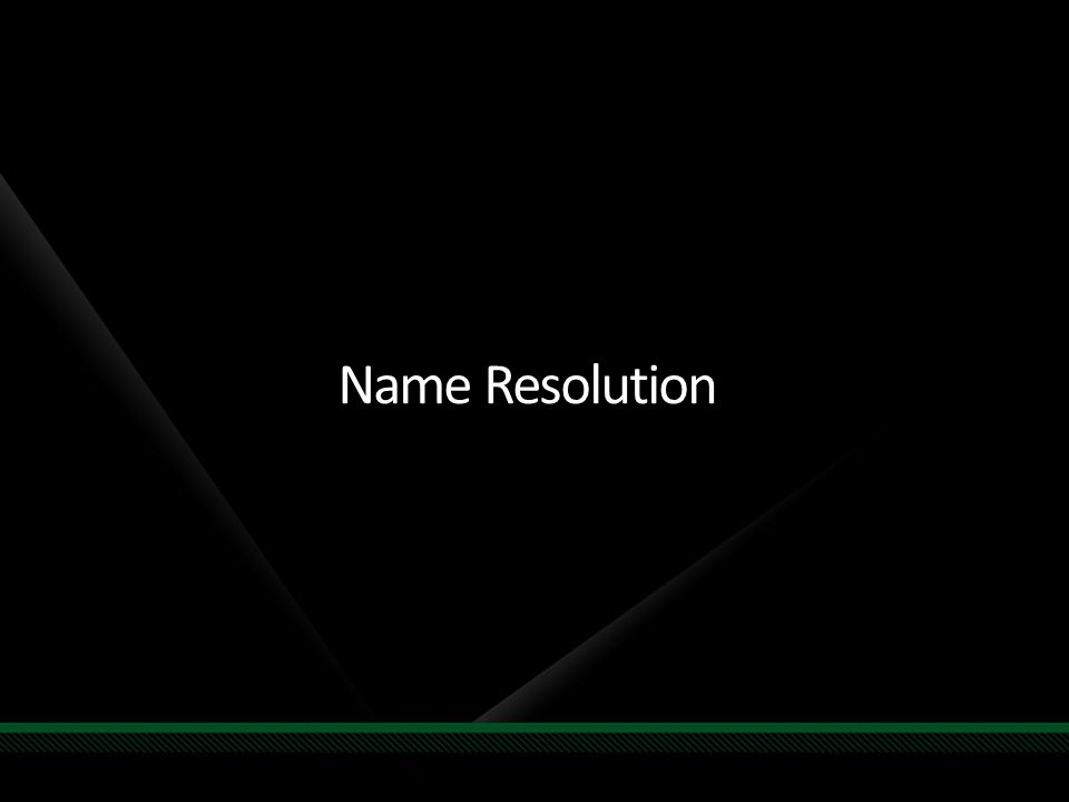Name Resolution