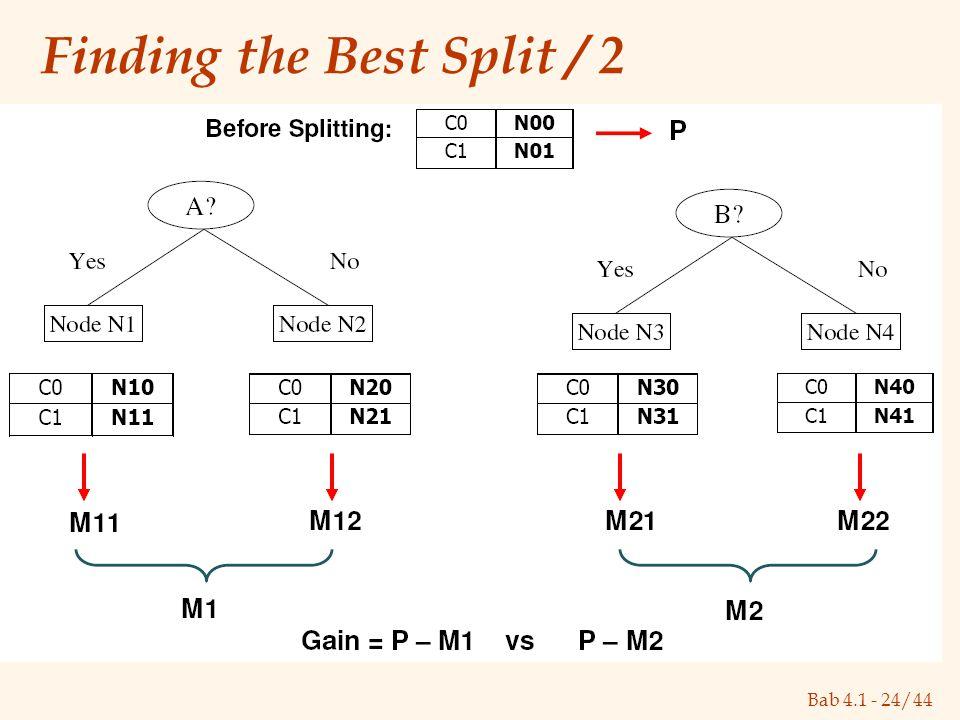 Bab 4.1 - 24/44 Finding the Best Split / 2