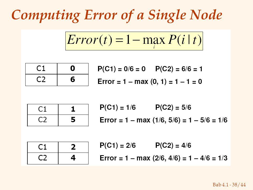 Bab 4.1 - 38/44 Computing Error of a Single Node