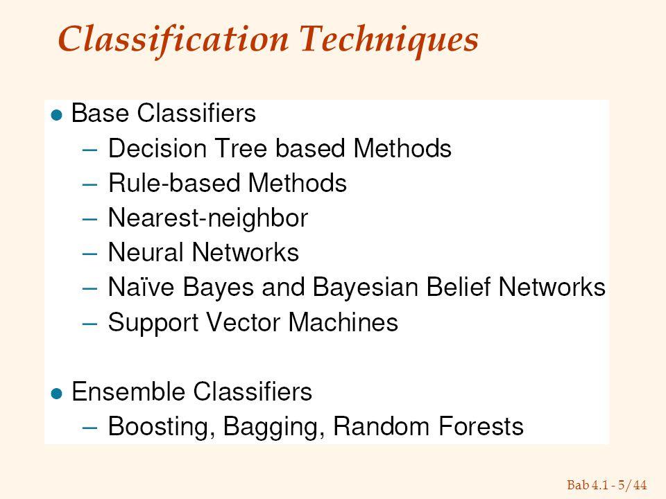 Bab 4.1 - 5/44 Classification Techniques