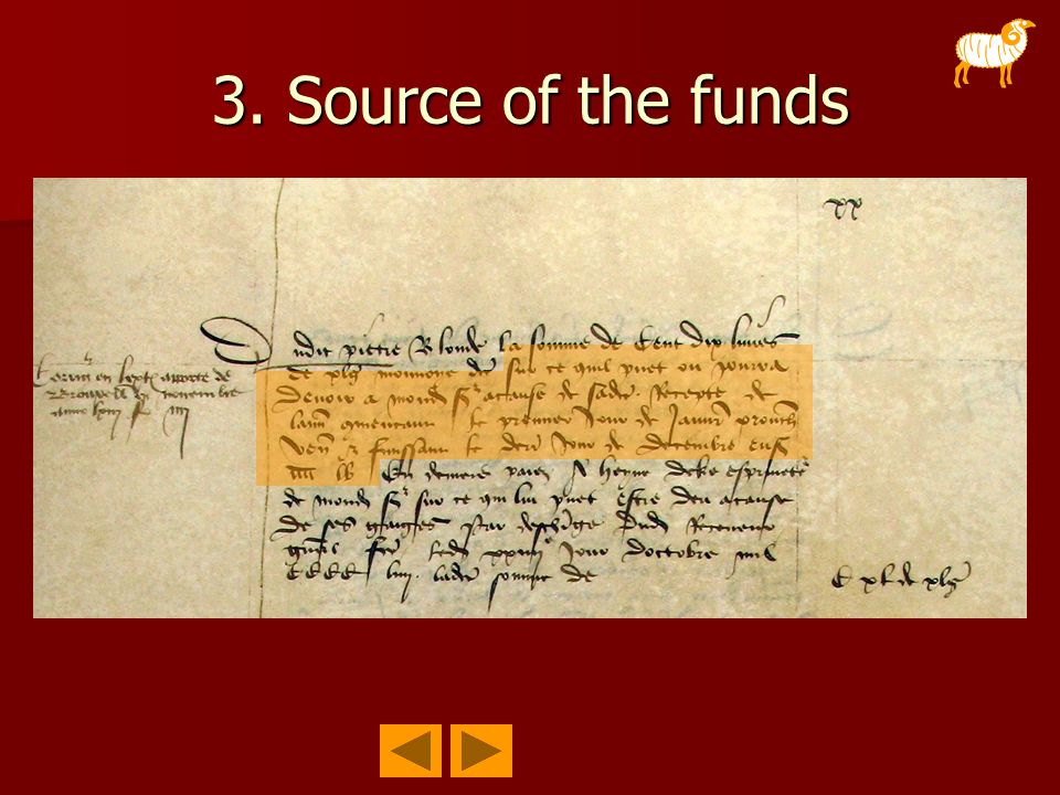 3. Source of the funds