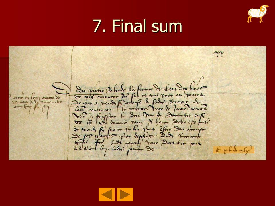 7. Final sum