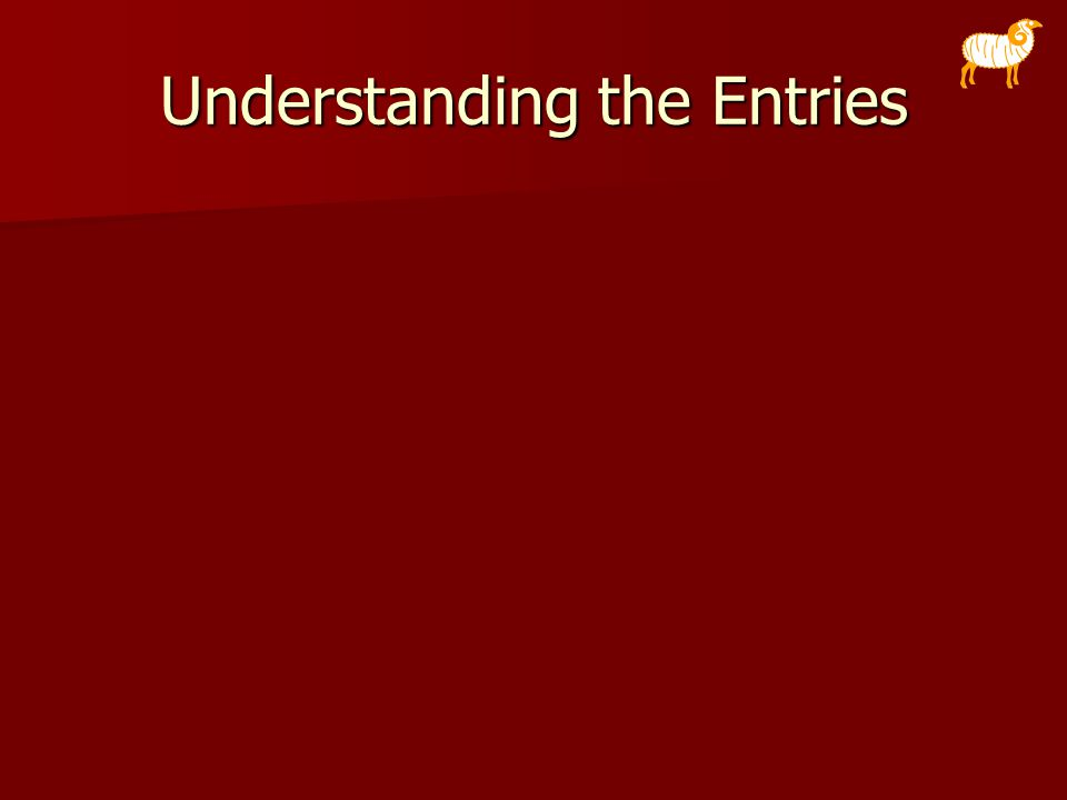 Understanding the Entries