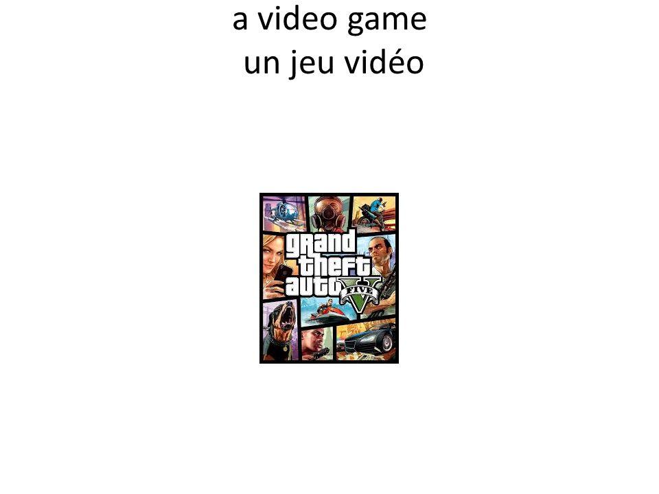 a video game un jeu vidéo