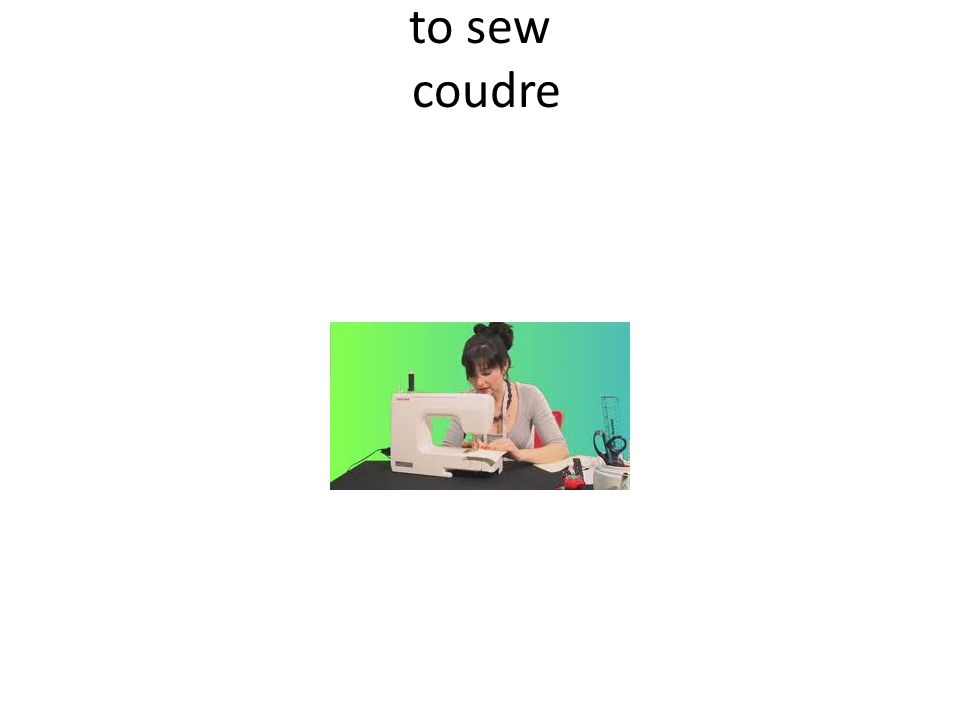 to sew coudre