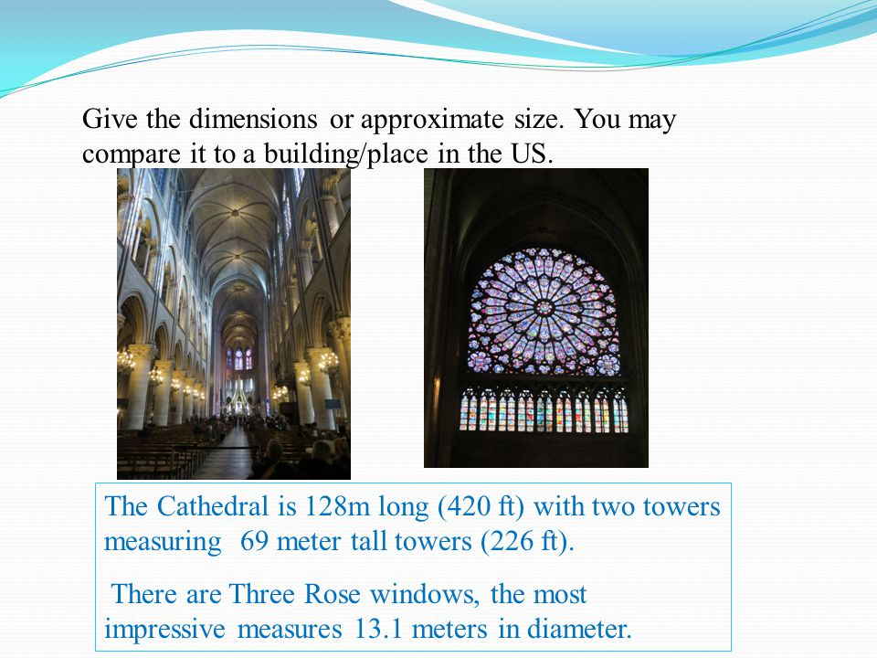 Give the dimensions or approximate size.You may compare it to a building/place in the US.
