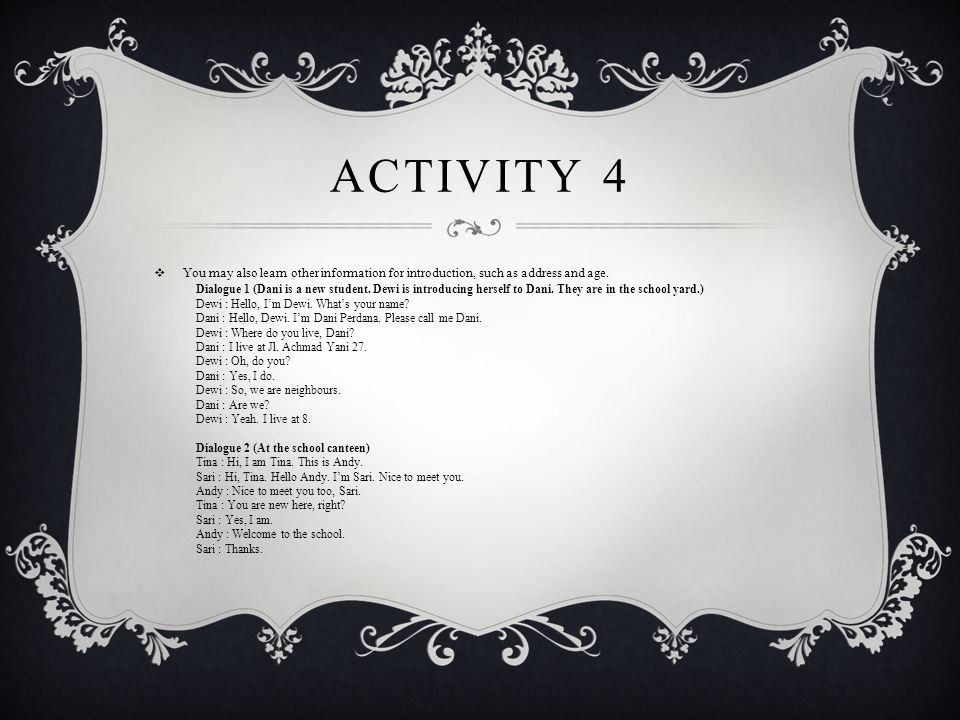 ACTIVITY 5  Fill in the blanks with suitable expressions.