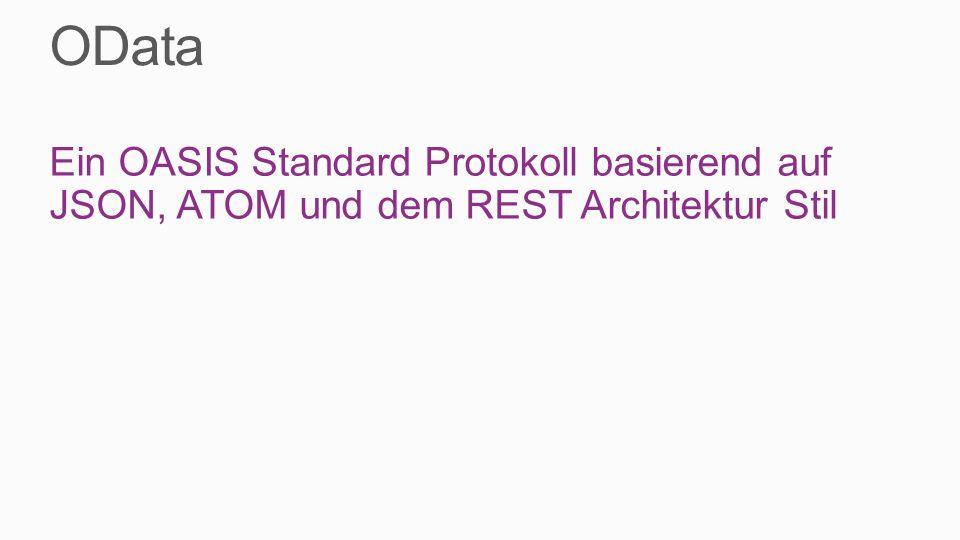 Ein OASIS Standard Protokoll basierend auf JSON, ATOM und dem REST Architektur Stil