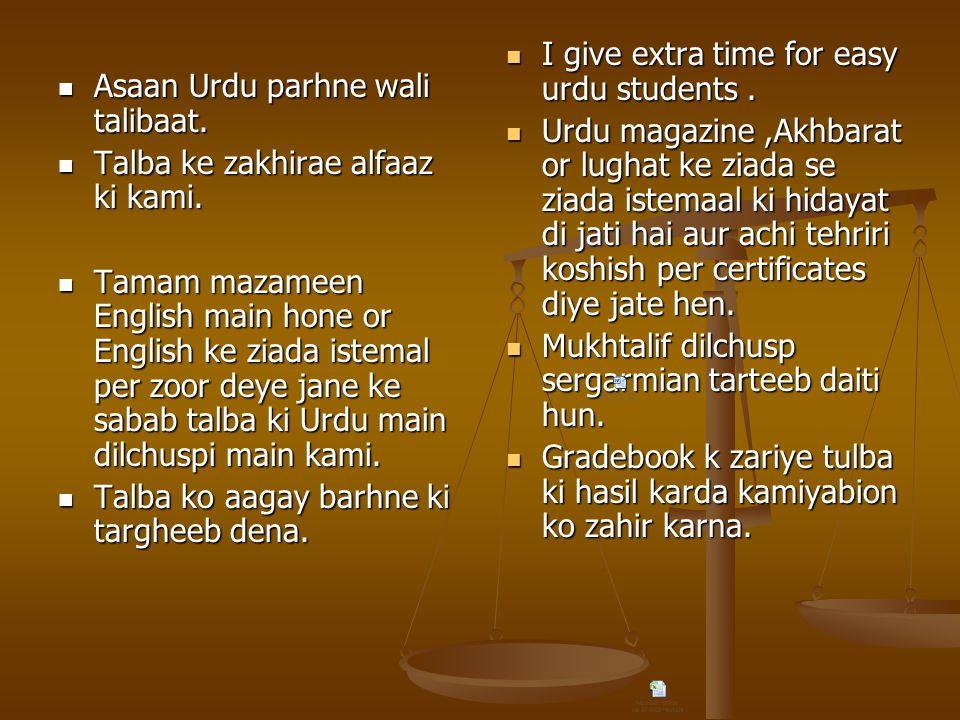 Asaan Urdu parhne wali talibaat.Asaan Urdu parhne wali talibaat.