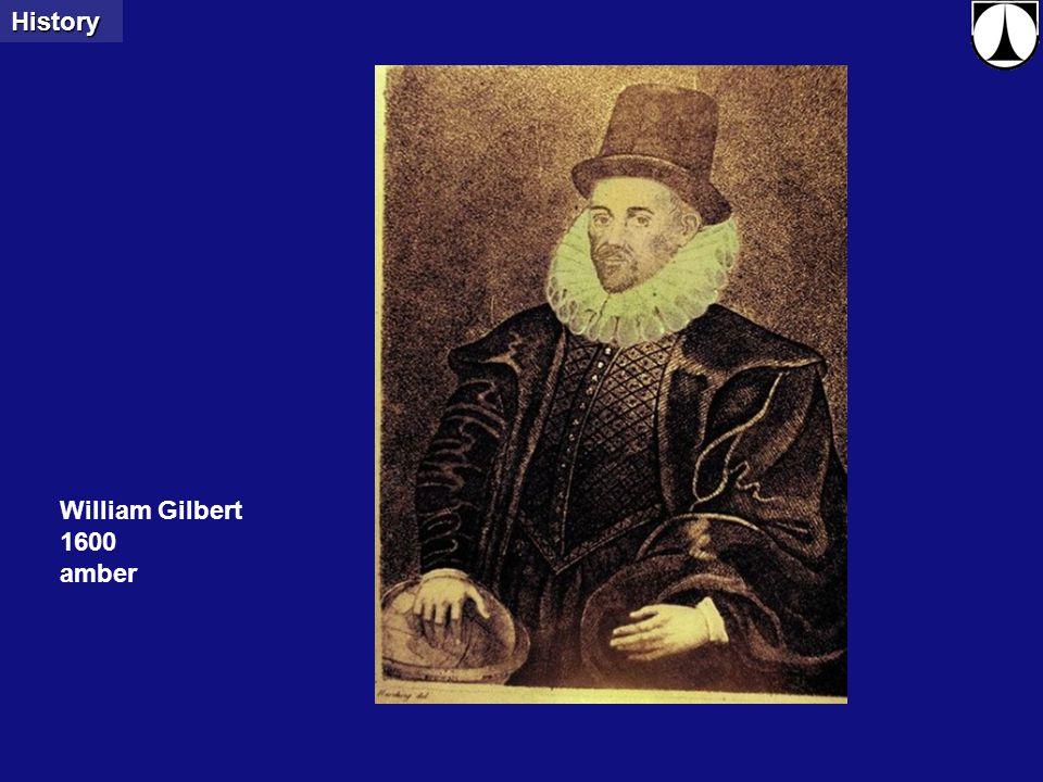 Clemson UniversityElectrospinning - X-rays3 William Gilbert 1600 amberHistory