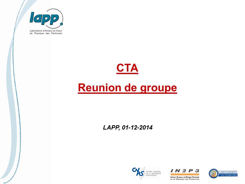CTA Reunion de groupe LAPP, 01-12-2014