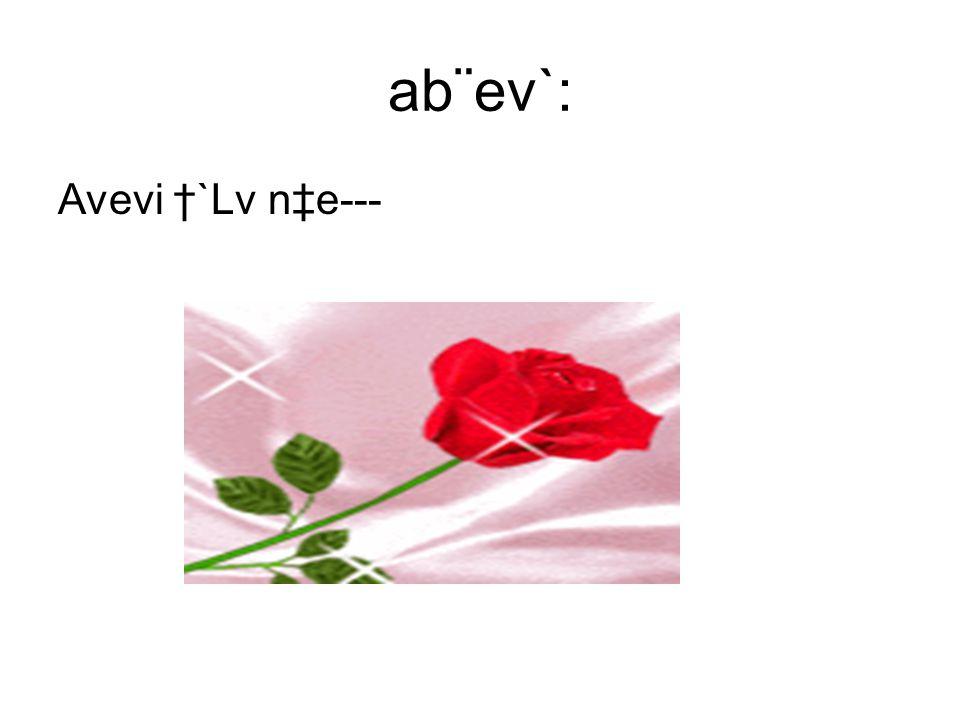 ab¨ev`: Avevi †`Lv n‡e---