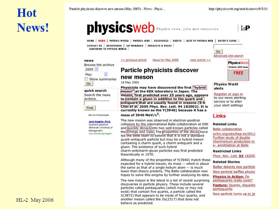 HL-2 May 2006Kernfysica: quarks, nucleonen en kernen20 color-magnetic energy splitting J = 1 mass gap 600 MeV/c 2 J = 0 remember: charmonium S-state splitting 120 MeV