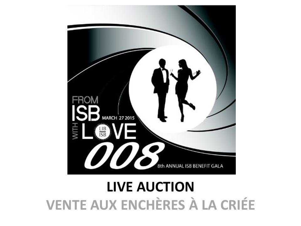 LIVE AUCTION VENTE AUX ENCHÈRES À LA CRIÉE