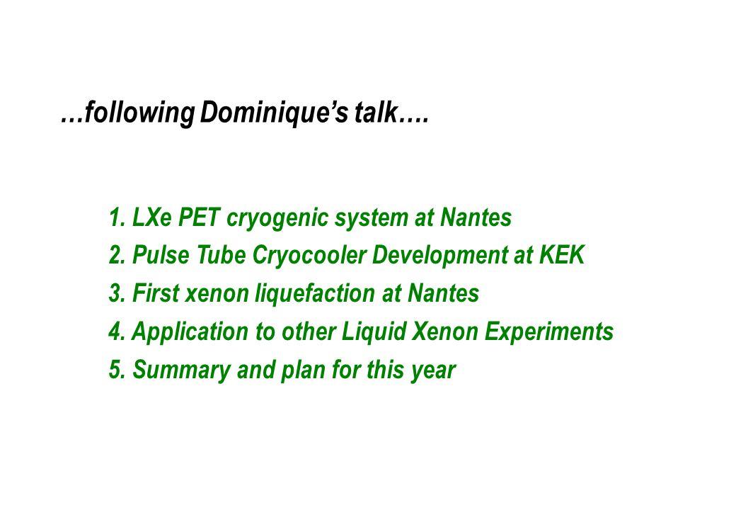 Liquid xenon - any specialties in cryogenic?