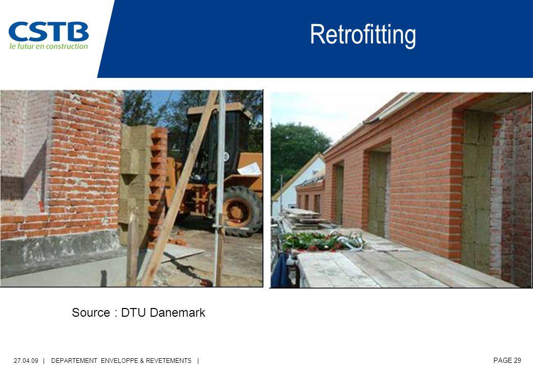 27.04.09 | DEPARTEMENT ENVELOPPE & REVETEMENTS | PAGE 29 Source : DTU Danemark Retrofitting