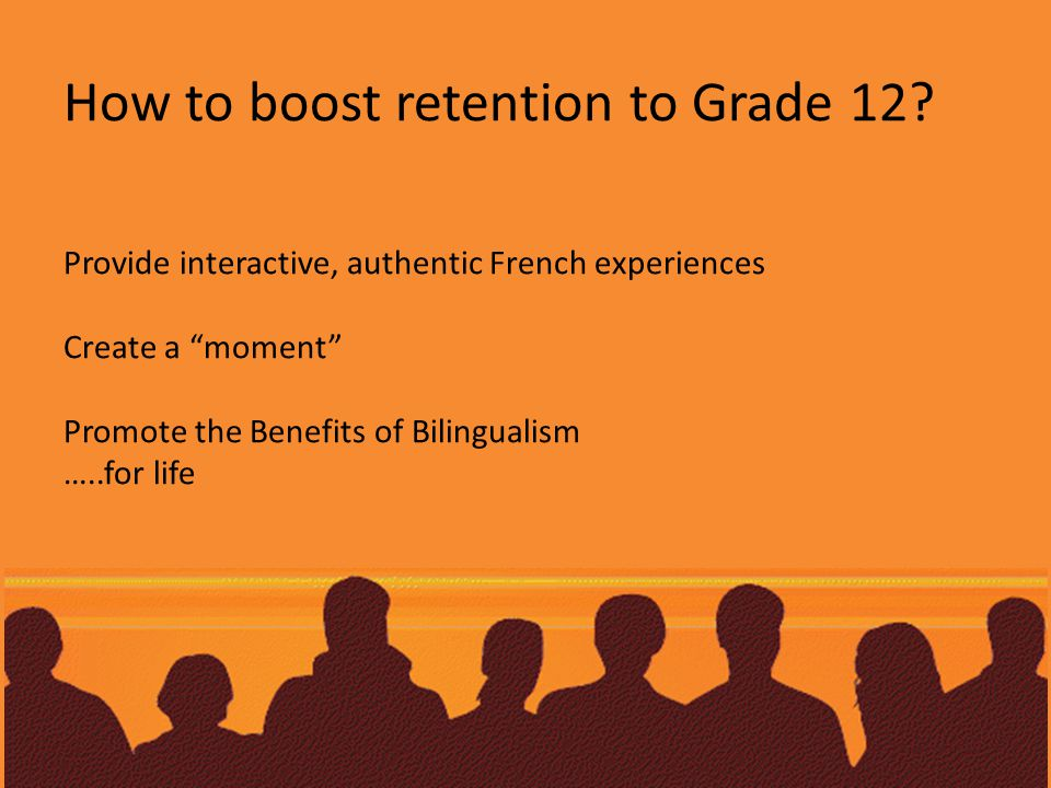 How to boost retention to Grade 12.