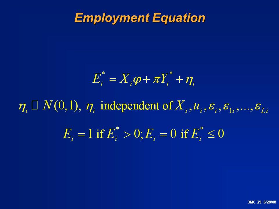 3MC 29 6/28/08 Employment Equation