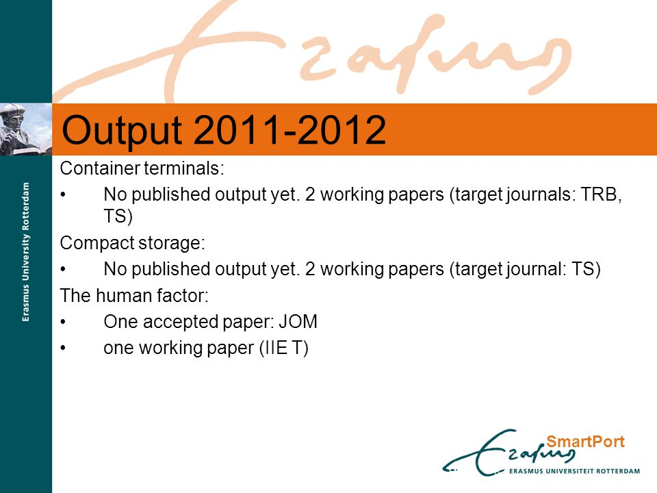 SmartPort Output 2011-2012 Container terminals: No published output yet.