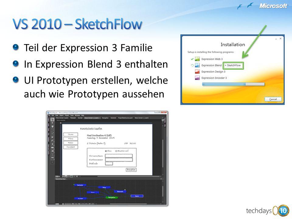 Teil der Expression 3 Familie In Expression Blend 3 enthalten UI Prototypen erstellen, welche auch wie Prototypen aussehen