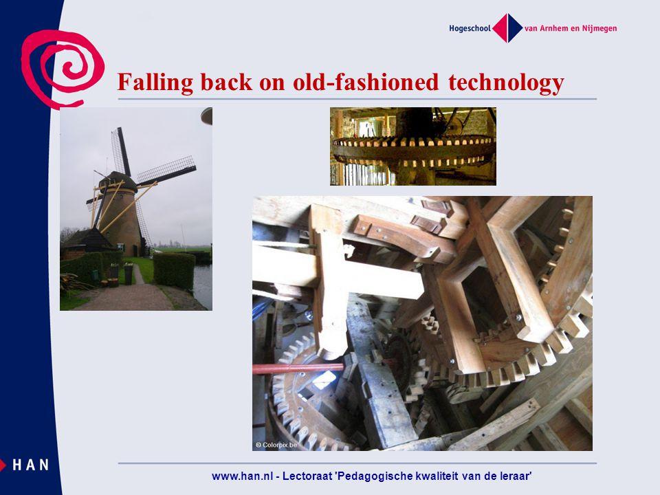 Falling back on old-fashioned technology www.han.nl - Lectoraat Pedagogische kwaliteit van de leraar