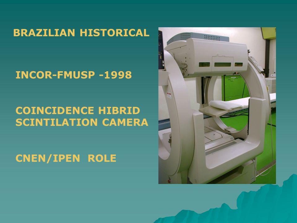 INCOR-FMUSP -1998 COINCIDENCE HIBRID SCINTILATION CAMERA CNEN/IPEN ROLE BRAZILIAN HISTORICAL