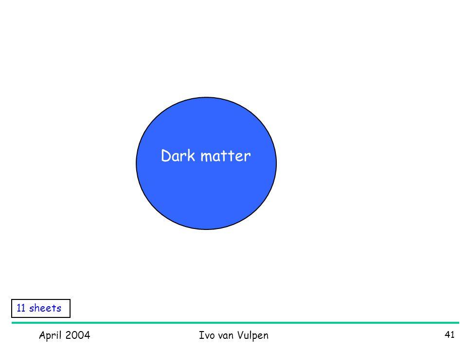 April 2004Ivo van Vulpen 41 11 sheets Dark matter