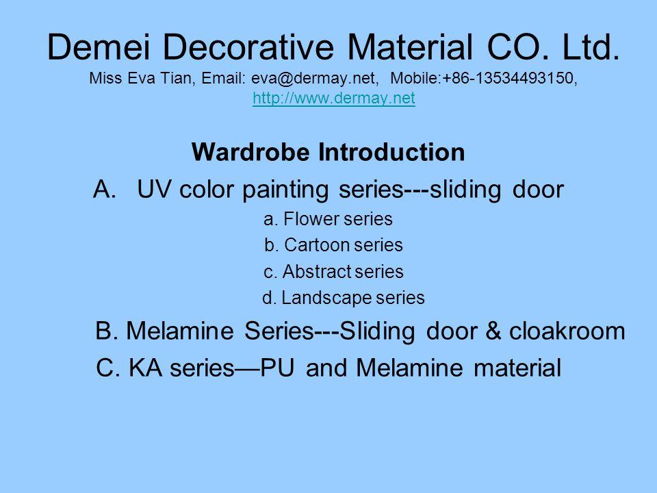 Melamine series sliding door-SM-010