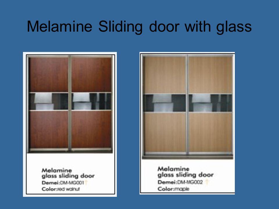 Melamine Sliding door with glass
