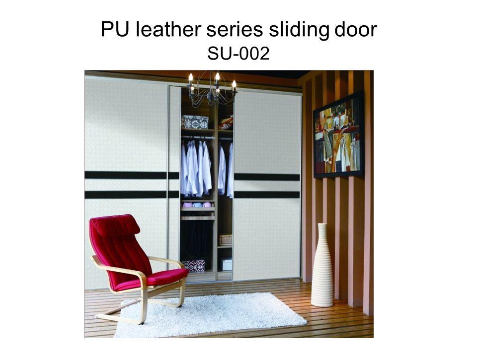 PU leather series sliding door SU-002