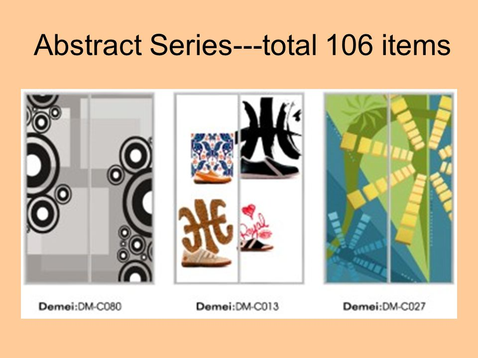 Abstract Series---total 106 items