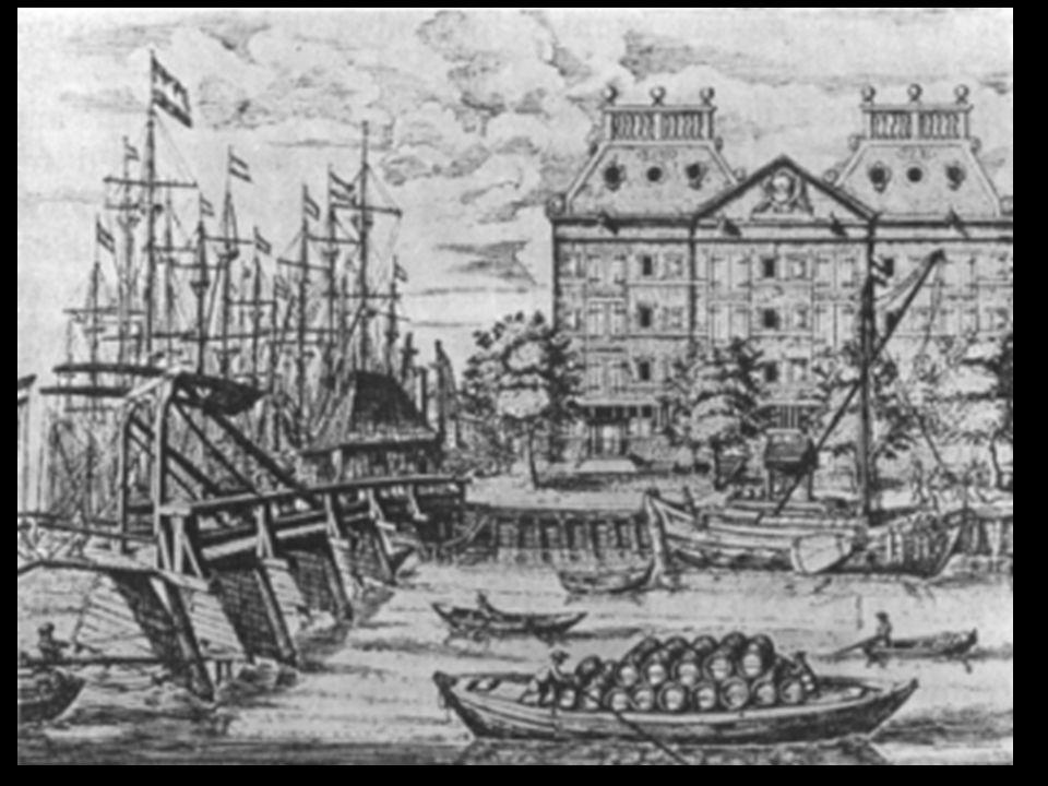 Legend A.The Hoisting Crane. B. Southeast Bastion of Fort Amsterdam.