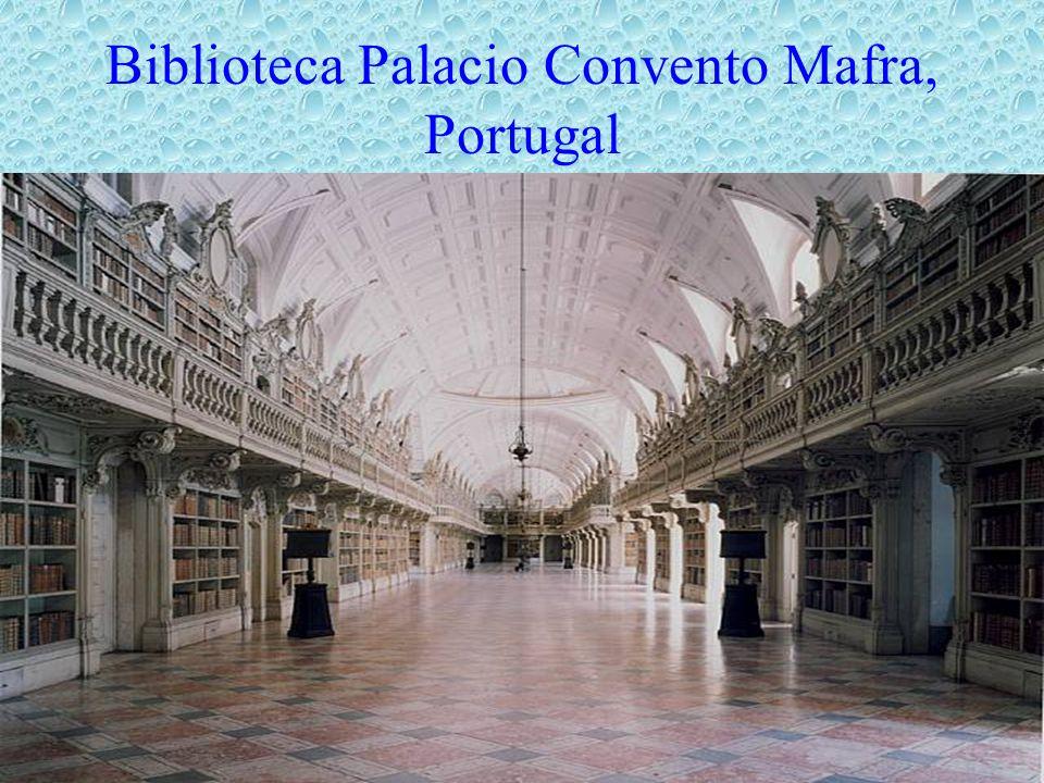 Biblioteca Palacio Convento Mafra, Portugal