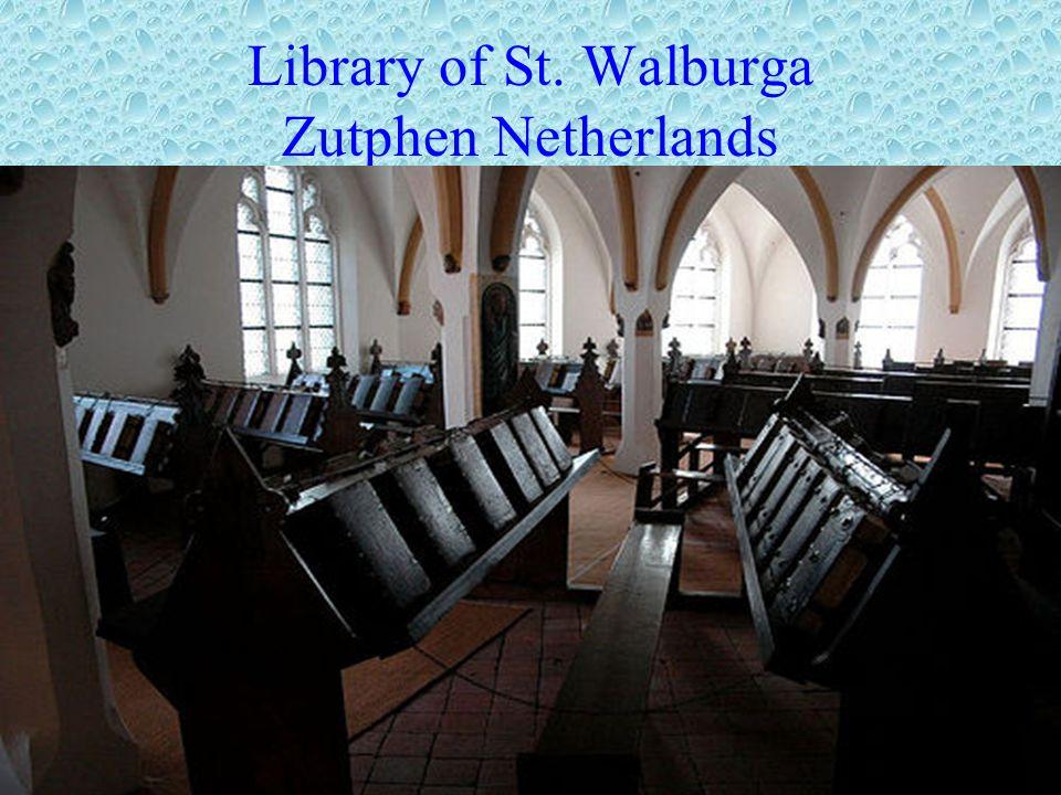 Library of St. Walburga Zutphen Netherlands