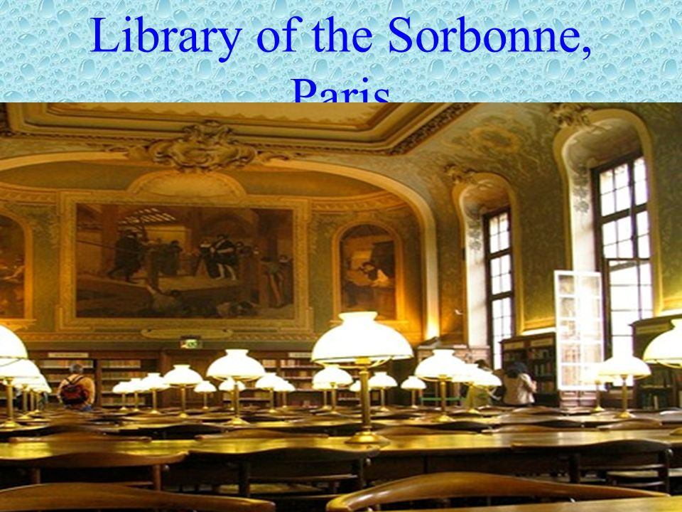 Library of the Sorbonne, Paris