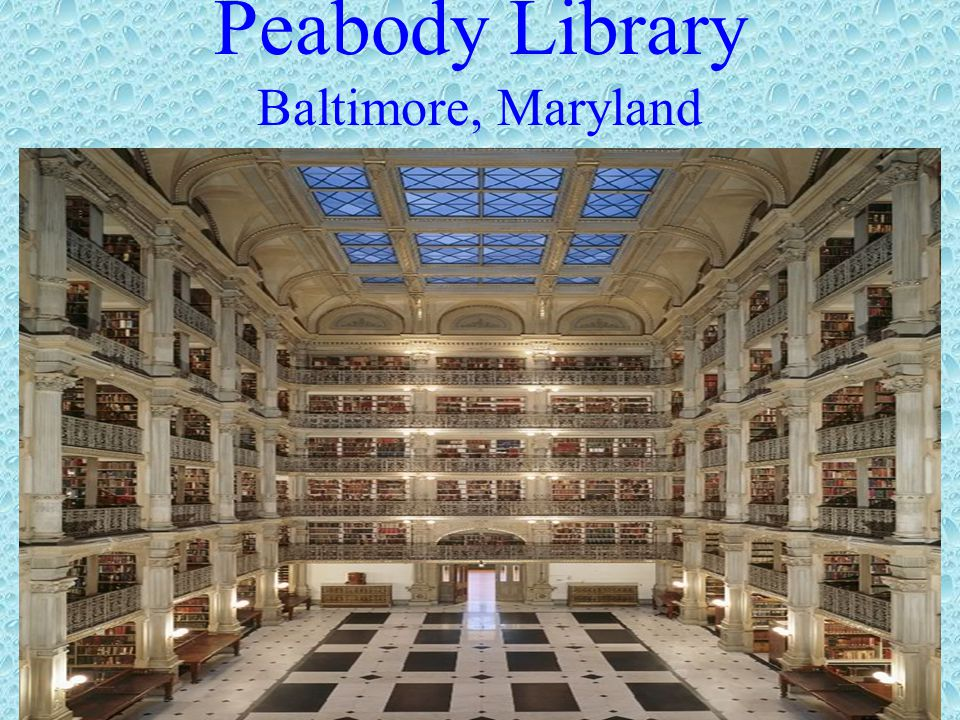Peabody Library Baltimore, Maryland