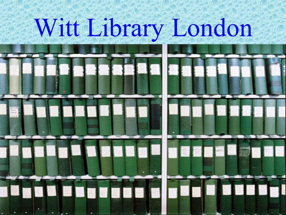 Witt Library London