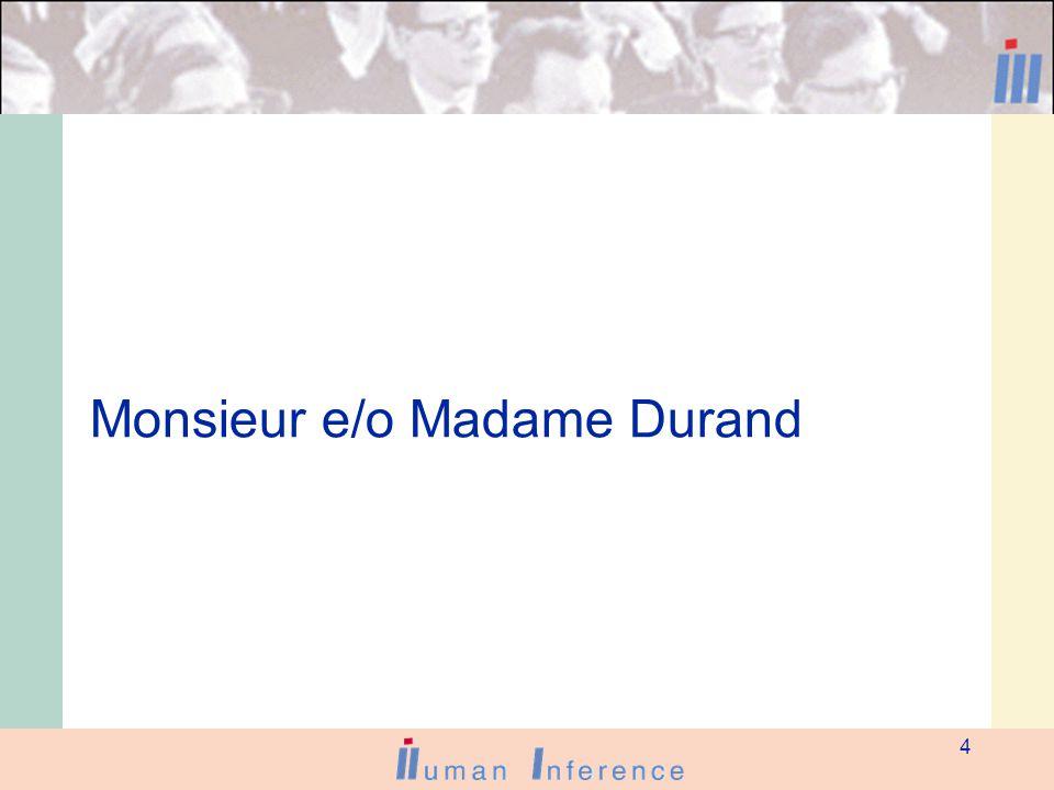 4 Monsieur e/o Madame Durand