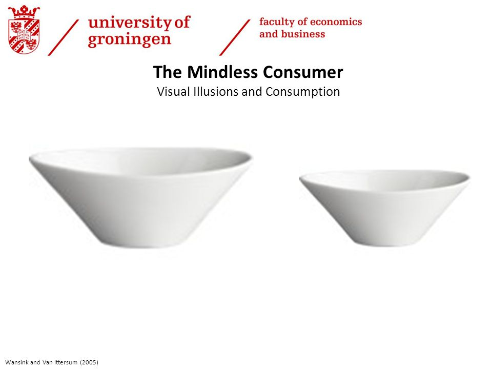 The Mindless Consumer Visual Illusions and Consumption Wansink and Van Ittersum (2005)