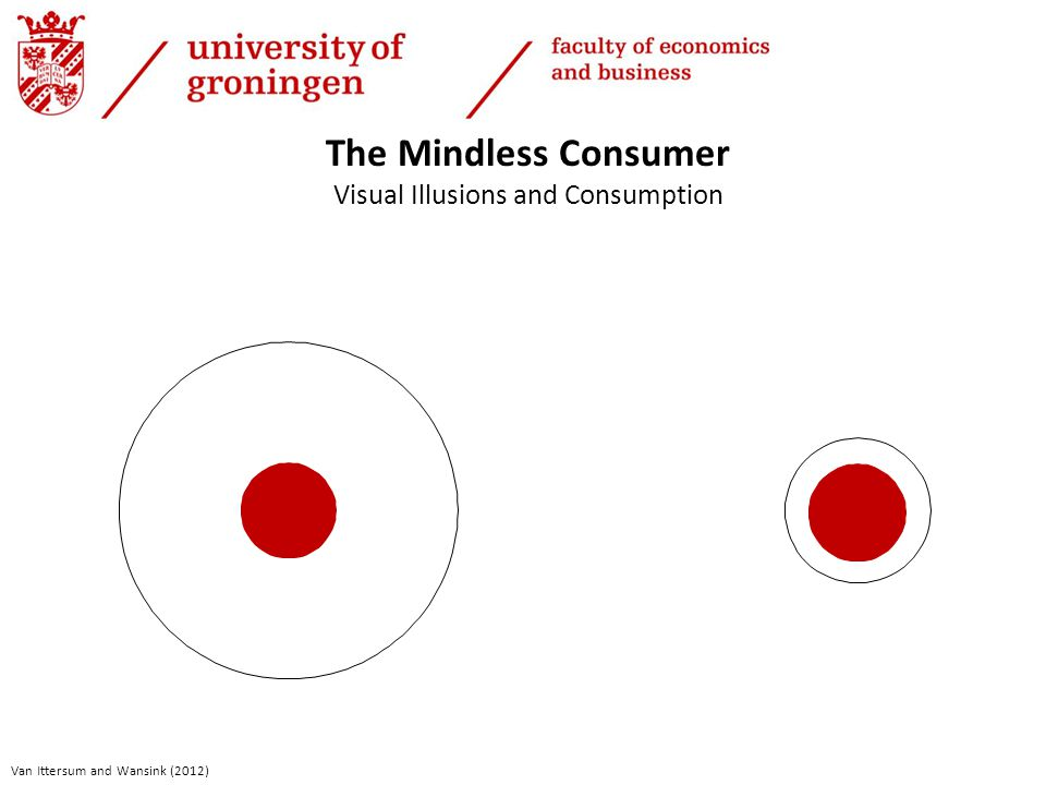 The Mindless Consumer Visual Illusions and Consumption Van Ittersum and Wansink (2012)