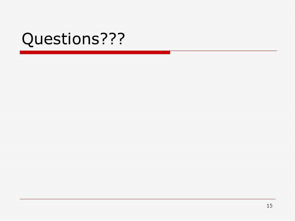 15 Questions???