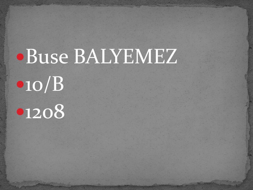 Buse BALYEMEZ 10/B 1208