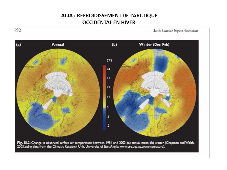 ACIA : REFROIDISSEMENT DE L'ARCTIQUE OCCIDENTAL EN HIVER