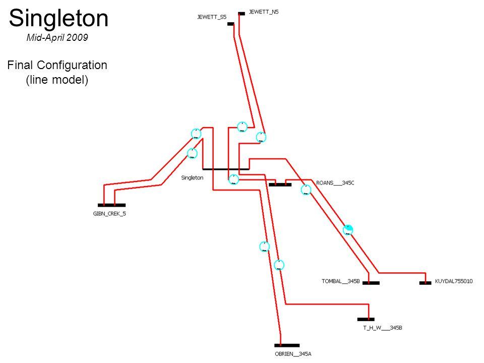 Singleton Mid-April 2009 Final Configuration (line model)