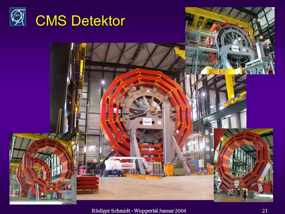 Rüdiger Schmidt - Wuppertal Januar 200421 CMS Detektor